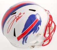 Josh Allen Signed Bills Full-Size Matte White Speed Helmet (JSA COA) at PristineAuction.com