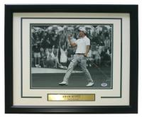 "Adam Scott Signed 2013 Masters 16"" x 20"" Custom Framed Photo Display (PSA COA) at PristineAuction.com"