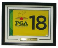 Jason Day Signed 2016 PGA Championship 19x23 Custom Framed Pin Flag Display (JSA COA) at PristineAuction.com