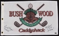 "Cindy Morgan & Michael O'Keefe Signed ""Caddyshack"" Bushwood Country Club Pin Flag Inscribed ""Love Lacey"" & ""Noonan"" (Schwartz COA) at PristineAuction.com"