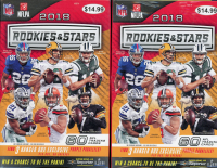 Lot of (2) 2018 Panini Rookies and Stars Football Hanger Boxes at PristineAuction.com