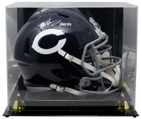 "Mike Singletary Signed Bears Full-Size Speed Helmet Inscribed ""HOF 98"" With Acrylic Display Case (JSA COA) at PristineAuction.com"