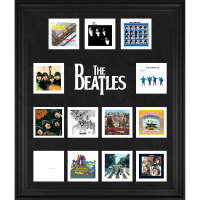 The Beatles 20x24 Custom Framed Discography Photo Collage Display at PristineAuction.com