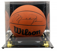 Michael Jordan Signed Basketball With High-Quality Display Case (JSA LOA & UDA Hologram) at PristineAuction.com