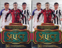 Lot of (2) 2017-18 Panini Select Soccer Hanger Boxes at PristineAuction.com