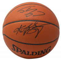 Kobe Bryant & Shaquille O'Neal Signed Official NBA Game Ball Basketball With High-Quality Display Case (Beckett COA & PSA COA) at PristineAuction.com