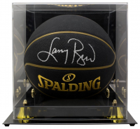 Larry Bird Signed NBA Basketball With High-Quality Display Case (Beckett COA) at PristineAuction.com