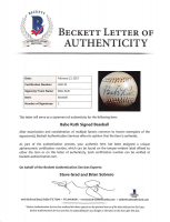 Babe Ruth Signed 1920s Reach Official League Baseball with High-Quality Display Case (PSA LOA & Beckett LOA) at PristineAuction.com
