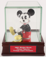 1960 Vintage Mickey Mouse Disney Japan Porcelain Figurine with Display Case at PristineAuction.com
