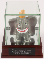 1960 Vintage Dumbo Disney Japan Porcelain Figurine with Display Case at PristineAuction.com
