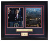 Barack Obama 11x18 Custom Framed Photo Display at PristineAuction.com