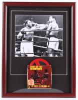 Muhammad Ali & Joe Frazier 17x22 Custom Framed Photo Display with Vintage 8mm Film at PristineAuction.com