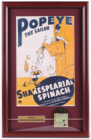 "Popeye the Sailor ""Shakespearean Spinach"" 15.5x24 Custom Framed Poster Display With 1940's 8mm Film including Original Box at PristineAuction.com"