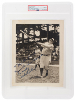 "Babe Ruth Signed Yankees 7x9 Photo Inscribed ""To My Little Friend"" & ""Sincerely"" (PSA Encapsulated) at PristineAuction.com"