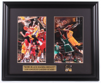Kobe Bryant Lakers 17.5x20.5 Custom Framed Photo Display With 2002 NBA Finals Pin at PristineAuction.com