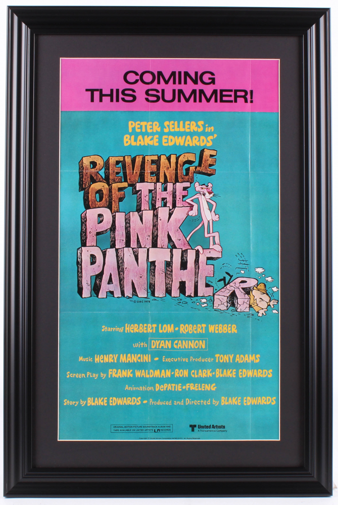 """""""Revenge of the Pink Panther"""" 16x24 Custom Framed Movie Poster Display at PristineAuction.com"""