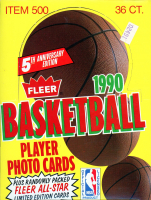 1990 Fleer Basketball Hobby Box of (36) Packs at PristineAuction.com