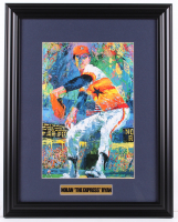 "Leroy Neiman ""Nolan 'The Express' Ryan"" 15.5x19.5 Custom Framed Print Display at PristineAuction.com"