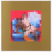 "Kanye West Signed ""My Beautiful Dark Twisted Fantasy"" 12x12 Vinyl Record Album Print (JSA COA) at PristineAuction.com"