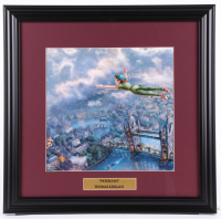 "Thomas Kinkade ""Peter Pan"" 18x18.5 Custom Framed Print Display at PristineAuction.com"