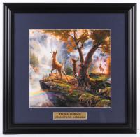 "Thomas Kinkade ""Bambi"" 18x18.5 Custom Framed Print Display at PristineAuction.com"