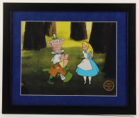 "Walt Disney's ""Alice in Wonderland"" 16x19 Custom Framed Animation Serigraph at PristineAuction.com"