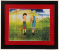 Beavis & Butthead 16x19 Custom Framed Hand-Painted Animation Serigraph Cel at PristineAuction.com