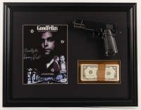 "Henry Hill Signed ""Goodfellas"" 17.5x22.5 Custom Framed Print Display Inscribed ""Goodfella"" with Replica Gun & Prop Money (PSA COA) at PristineAuction.com"
