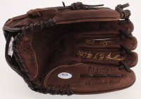 "Nolan Ryan Signed Rawlings Baseball Glove Inscribed ""100.7 M.P.H. Fastball"" (PSA COA) at PristineAuction.com"