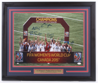 Team Canada FIFA Women's World Cup 2015 Champions 22.5x26.5 Custom Framed Photo Display Team Signed by (6) with Carli Lloyd, Becky Sauerbrunn, Amy Rodriguez (JSA Hologram) at PristineAuction.com