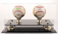 Lot of (2) Kevin Eastman Signed OML Baseballs with Hand-Drawn Sketch & Display Case (JSA COA) at PristineAuction.com
