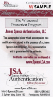 Julius Erving & Larry Bird Signed 22.5x26.5 Custom Framed Photo Display (JSA COA) at PristineAuction.com