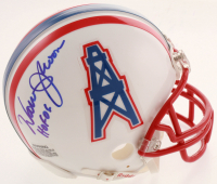 "Warren Moon Signed Oilers Mini Helmet Inscribed ""HOF 06"" (JSA COA & Moon Hologram) at PristineAuction.com"
