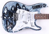 "Ramones 38"" Custom Electric Guitar Band-Signed by (4) with Richie Ramone, Marky Ramone, C. J. Ramone & Elvis Ramone Inscribed ""You're a Loudmouth Baby!"" & ""Gabba Gabba Hey"" (JSA Hologram) at PristineAuction.com"