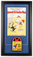 Vintage Walt Disney's Donald Duck 17x30.5 Custom Framed 7mm Film Reel Display at PristineAuction.com