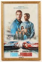 """Ford v Ferrari"" 12x18 Custom Framed Movie Poster Display at PristineAuction.com"