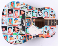 "Mickey Mantle Signed Yankees 41"" Custom Trading Card Print Acoustic Guitar Inscribed ""No. 7"" (PSA LOA) at PristineAuction.com"