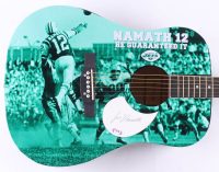 "Joe Namath Signed Jets 41"" Custom Acoustic Guitar (PSA Hologram) at PristineAuction.com"