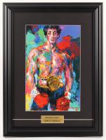 "Leroy Neiman ""Rocky"" 14.5x19.5 Custom Framed Print Display at PristineAuction.com"