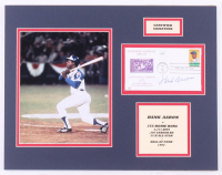 Hank Aaron Signed Braves 14x18 Custom Matted FDC Envelope Display (JSA COA) at PristineAuction.com
