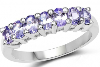 Tanzanite .925 Sterling Silver Ring at PristineAuction.com