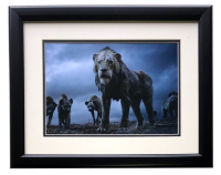"Scar & Hyenas ""The Lion King"" 16x18 Custom Framed Photo at PristineAuction.com"