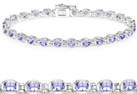 Tanzanite .925 Sterling Silver Bracelet at PristineAuction.com