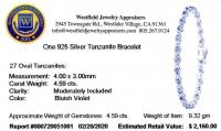 Tanzanite .925 Sterling Silver Bracelet at PristineAuction.com