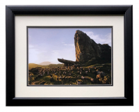 "Pride Rock Gathering ""The Lion King"" 16x18 Custom Framed Photo at PristineAuction.com"