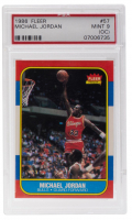 Michael Jordan 1986-87 Fleer #57 RC (PSA 9) (OC) at PristineAuction.com