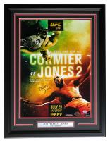 """Jon """"Bones"""" Jones Signed UFC 214 Fight Poster vs. Cormier 22x27 Custom Framed Poster (PSA COA) at PristineAuction.com"""