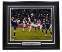 "Cristiano Ronaldo Signed Juventus ""Bicycle Kick"" 22x27 Custom Framed Photo (Beckett COA) at PristineAuction.com"