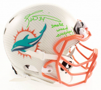 """Ricky Williams Signed Dolphins Full-Size Authentic On-Field Hydro-Dipped Helmet Inscribed """"Smoke Weed Everyday!"""" (JSA Hologram) at PristineAuction.com"""