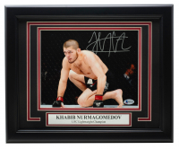 Khabib Nurmagomedov Signed UFC 11x14 Custom Framed Photo Display (Beckett COA) at PristineAuction.com
